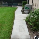 Concrete back path after