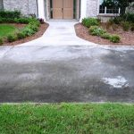 Concrete walkway before